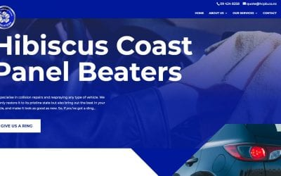 New Website for Hibiscus Coast Panel Beaters