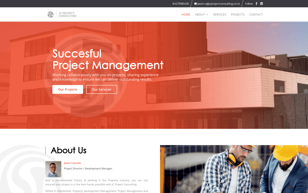New Website Launched for JC Project Consulting
